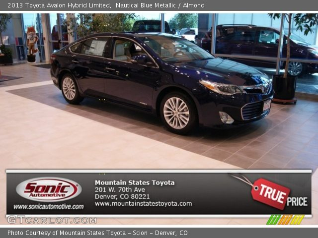 nautical blue metallic 2013 toyota avalon hybrid limited almond interior. Black Bedroom Furniture Sets. Home Design Ideas