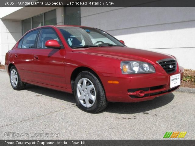 electric red metallic 2005 hyundai elantra gls sedan. Black Bedroom Furniture Sets. Home Design Ideas