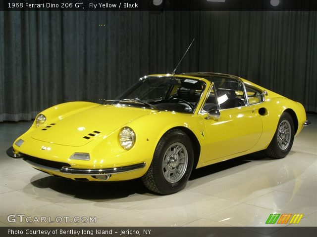 Fly Yellow - 1968 Ferrari Dino 206 GT - Black Interior | GTCarLot.com ...