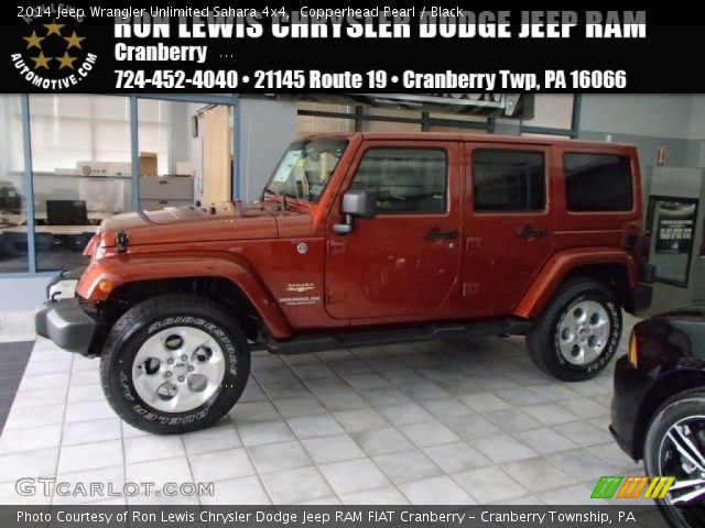 2014 Jeep Wrangler Unlimited Sahara 4x4 in Copperhead Pearl