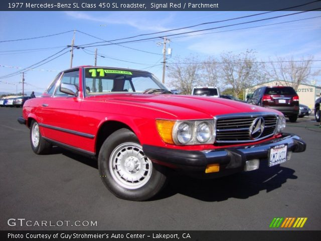 1977 Mercedes-Benz SL Class 450 SL roadster in Signal Red