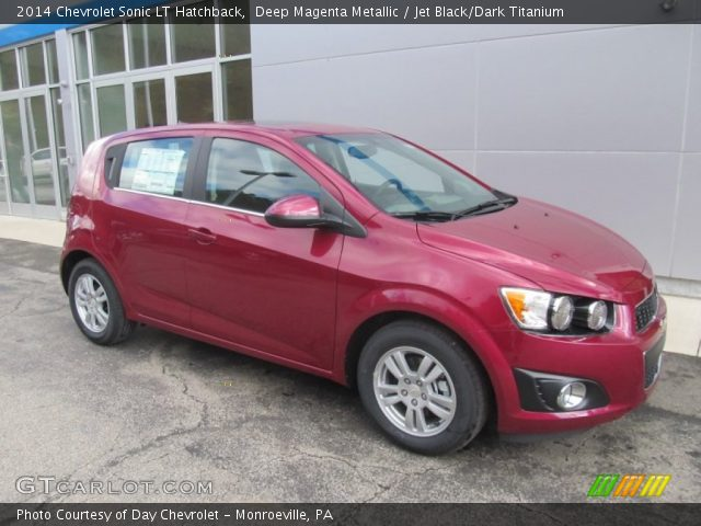 deep magenta metallic 2014 chevrolet sonic lt hatchback with jet black. Cars Review. Best American Auto & Cars Review