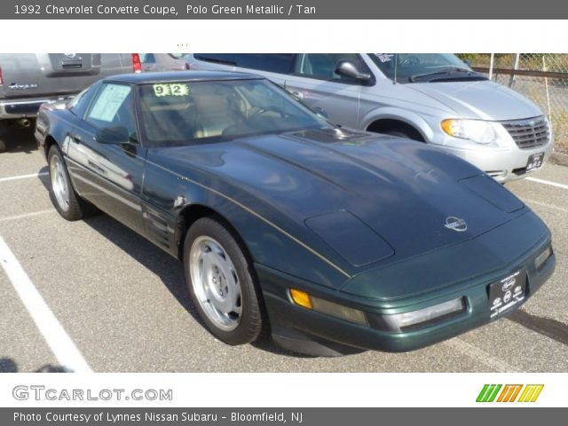 Polo green metallic 1992 chevrolet corvette coupe tan interior vehicle 1992 corvette interior parts
