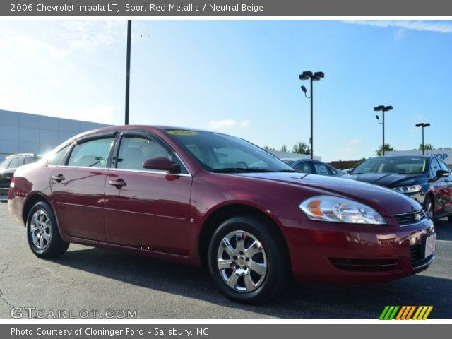 sport red metallic 2006 chevrolet impala lt neutral. Black Bedroom Furniture Sets. Home Design Ideas