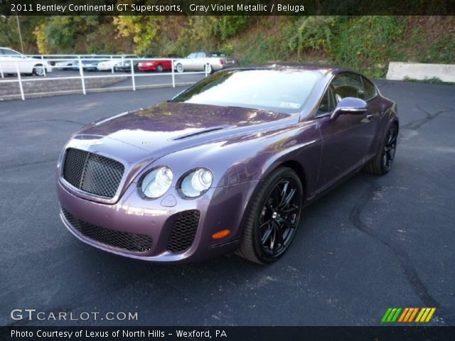 2011 Bentley Continental GT Supersports in Gray Violet Metallic