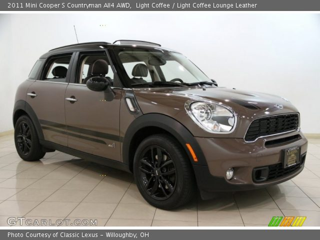 light coffee 2011 mini cooper s countryman all4 awd light coffee lounge leather interior. Black Bedroom Furniture Sets. Home Design Ideas