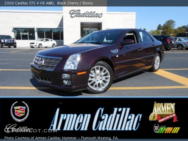 2009 Cadillac STS 4 V8 AWD in Black Cherry