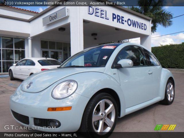 aquarius blue  volkswagen  beetle final edition coupe black interior gtcarlotcom