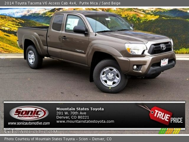 pyrite mica 2014 toyota tacoma v6 access cab 4x4 sand beige interior. Black Bedroom Furniture Sets. Home Design Ideas