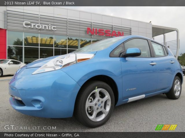 blue ocean 2013 nissan leaf sv black interior. Black Bedroom Furniture Sets. Home Design Ideas