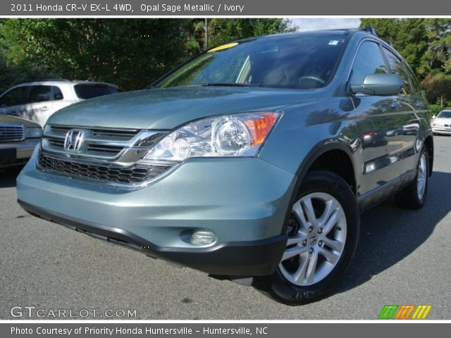 opal sage metallic 2011 honda cr v ex l 4wd ivory interior vehicle archive. Black Bedroom Furniture Sets. Home Design Ideas