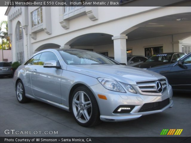 2011 Mercedes-Benz E 550 Coupe in Iridium Silver Metallic