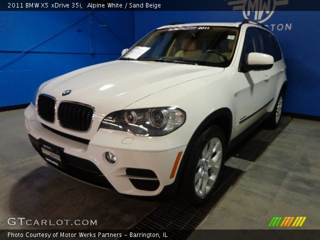 alpine white 2011 bmw x5 xdrive 35i sand beige interior vehicle archive. Black Bedroom Furniture Sets. Home Design Ideas