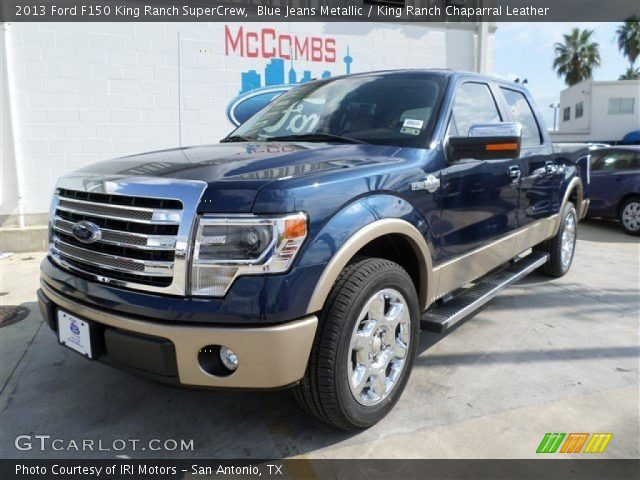 blue jeans metallic 2013 ford f150 king ranch supercrew king ranch chaparral leather. Black Bedroom Furniture Sets. Home Design Ideas
