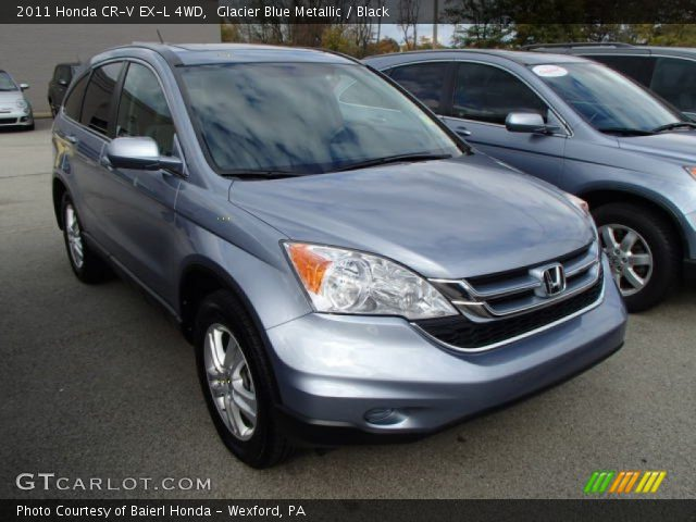 glacier blue metallic 2011 honda cr v ex l 4wd black interior vehicle. Black Bedroom Furniture Sets. Home Design Ideas