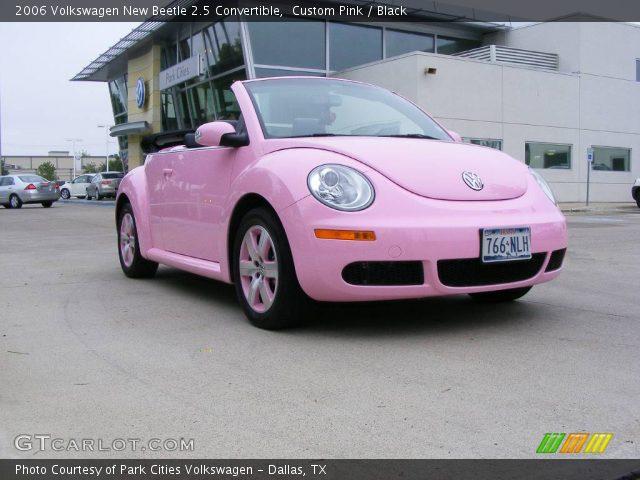 custom pink 2006 volkswagen new beetle 2 5 convertible black interior. Black Bedroom Furniture Sets. Home Design Ideas