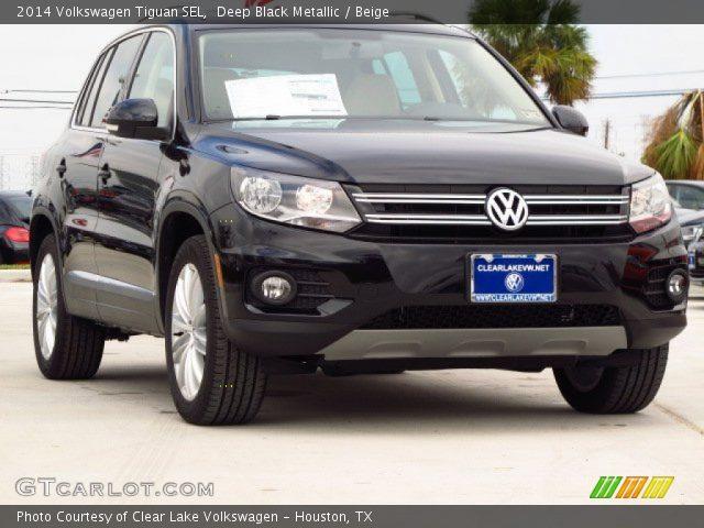 2014 Volkswagen Tiguan SEL in Deep Black Metallic  Click to see large    Volkswagen Tiguan 2014 Black