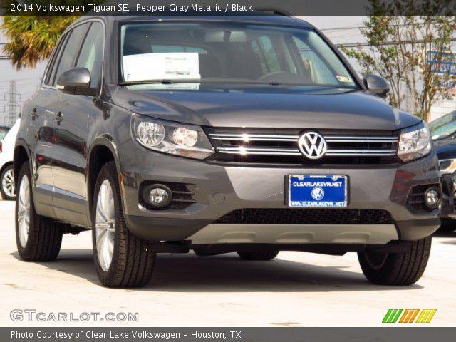 2014 Volkswagen Tiguan SE in Pepper Gray Metallic  Click to see large    Volkswagen Tiguan 2014 Black