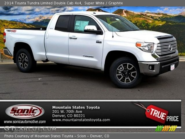 2014 Toyota Tundra Limited Double Cab 4x4 in Super White