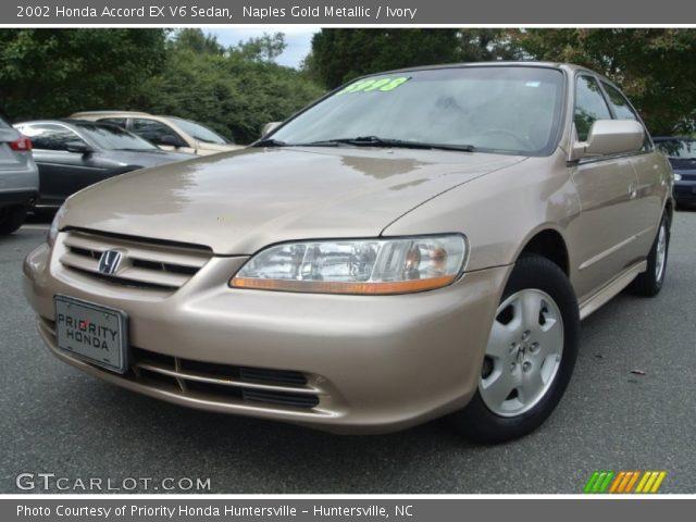 2002 Honda Accord EX V6 Sedan in Naples Gold Metallic