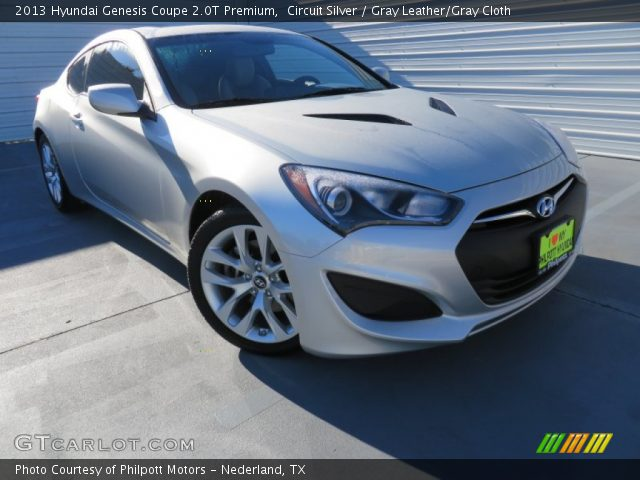 circuit silver 2013 hyundai genesis coupe 2 0t premium gray leather gray cloth interior. Black Bedroom Furniture Sets. Home Design Ideas