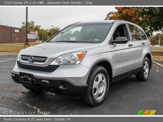 alabaster silver metallic 2009 honda cr v lx 4wd gray interior vehicle. Black Bedroom Furniture Sets. Home Design Ideas