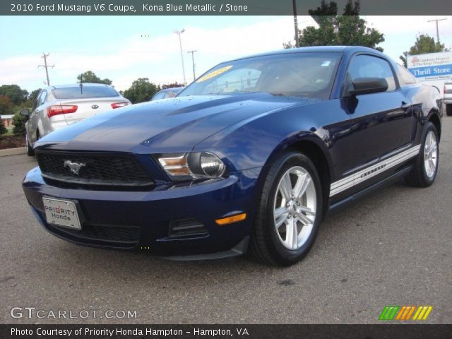 2010 ford mustang v6 coupe in kona blue metallic click to see large. Black Bedroom Furniture Sets. Home Design Ideas