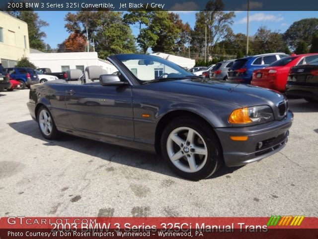 2003 BMW 3 Series 325i Convertible in Jet Black