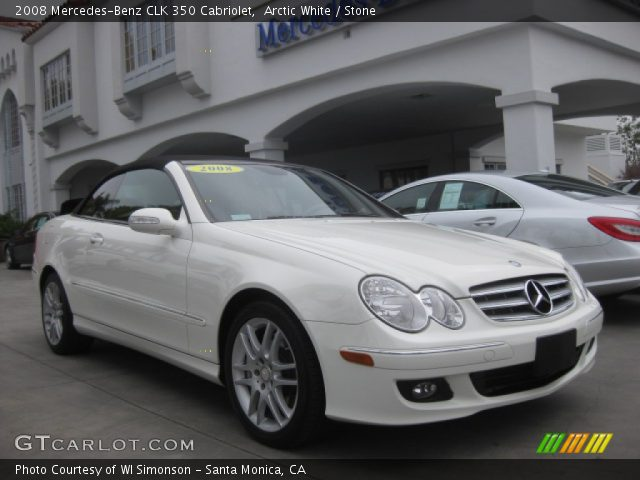 2008 Mercedes-Benz CLK 350 Cabriolet in Arctic White