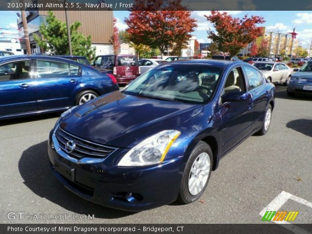 Navy Blue 2010 Nissan Altima 2 5 S Frost Interior Vehicle Archive 87225130