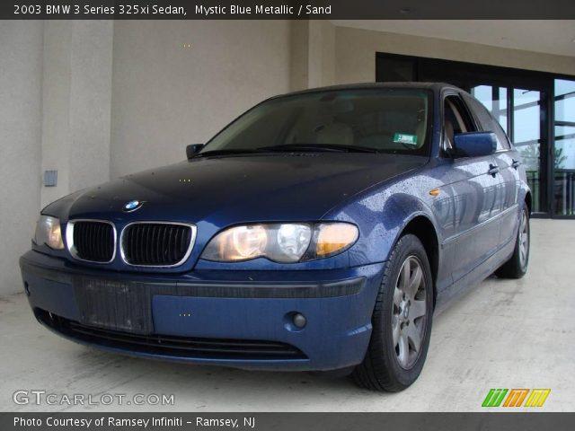 mystic blue metallic 2003 bmw 3 series 325xi sedan sand interior vehicle. Black Bedroom Furniture Sets. Home Design Ideas