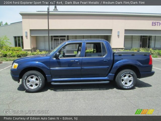 dark blue pearl metallic 2004 ford explorer sport trac xlt 4x4 medium dark flint dark flint. Black Bedroom Furniture Sets. Home Design Ideas