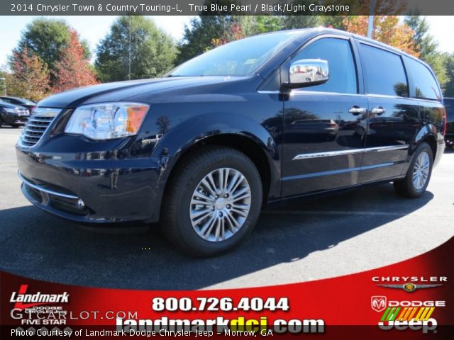 true blue pearl 2014 chrysler town country touring l black light graystone interior. Black Bedroom Furniture Sets. Home Design Ideas