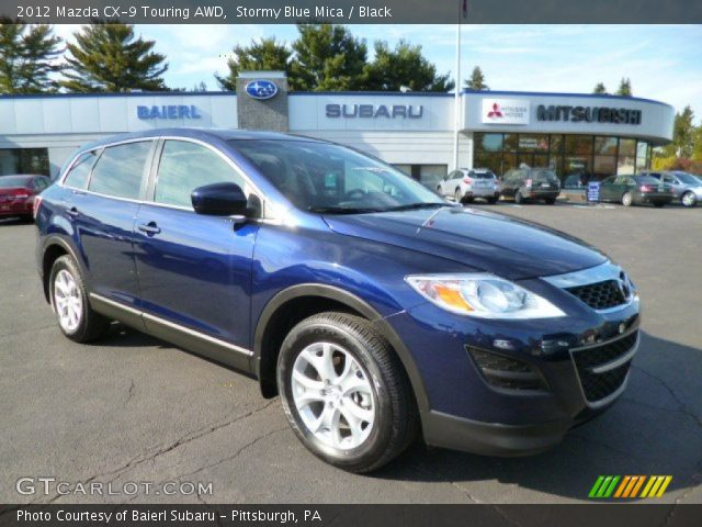 stormy blue mica 2012 mazda cx 9 touring awd black interior vehicle archive. Black Bedroom Furniture Sets. Home Design Ideas