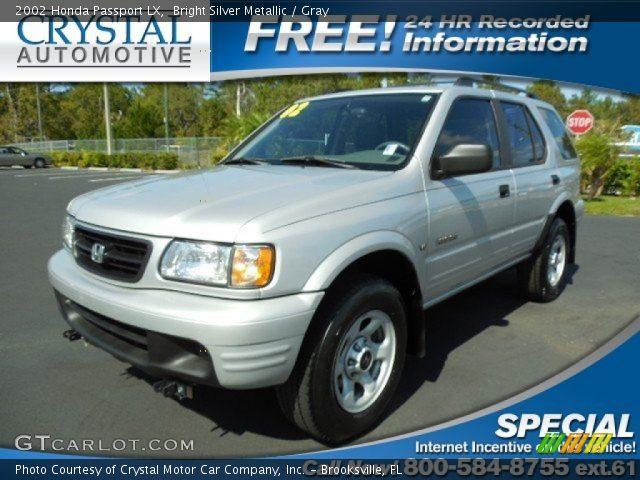 Bright Silver Metallic 2002 Honda Passport Lx Gray Interior Vehicle Archive