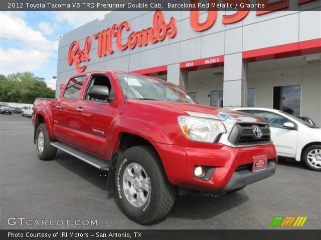 barcelona red metallic 2012 toyota tacoma v6 trd prerunner double cab graphite interior. Black Bedroom Furniture Sets. Home Design Ideas