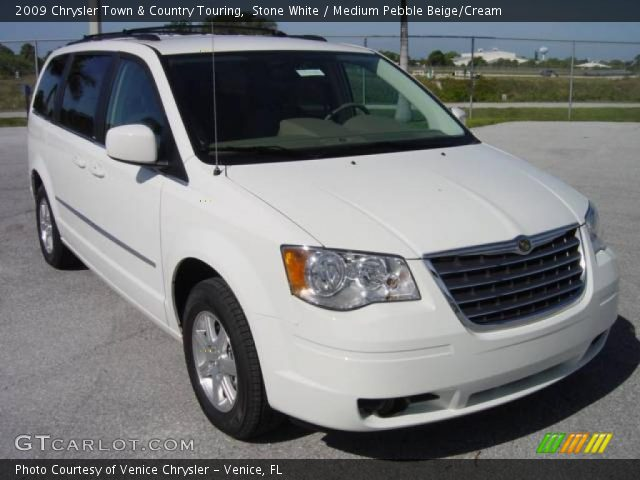 stone white 2009 chrysler town country touring medium pebble beige cream interior. Black Bedroom Furniture Sets. Home Design Ideas