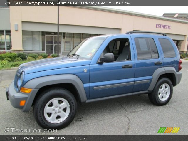 atlantic blue pearlcoat 2005 jeep liberty sport 4x4. Black Bedroom Furniture Sets. Home Design Ideas