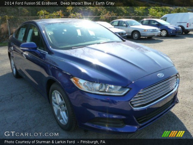 deep impact blue 2014 ford fusion se ecoboost earth gray interior vehicle. Black Bedroom Furniture Sets. Home Design Ideas