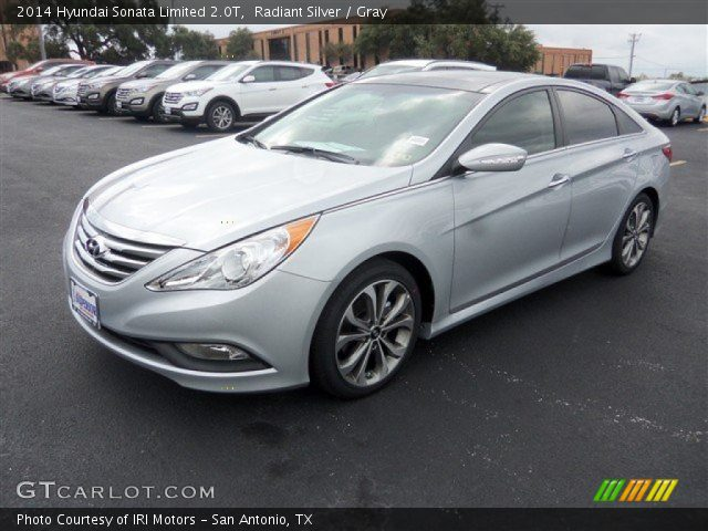 radiant silver 2014 hyundai sonata limited 2 0t gray interior vehicle. Black Bedroom Furniture Sets. Home Design Ideas