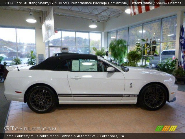 oxford white 2014 ford mustang shelby gt500 svt performance package convertible shelby. Black Bedroom Furniture Sets. Home Design Ideas