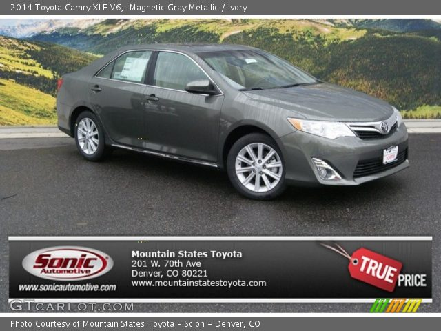 magnetic gray metallic 2014 toyota camry xle v6 ivory interior vehicle. Black Bedroom Furniture Sets. Home Design Ideas