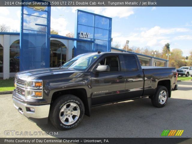 tungsten metallic 2014 chevrolet silverado 1500 ltz z71 double cab 4x4 jet black interior. Black Bedroom Furniture Sets. Home Design Ideas