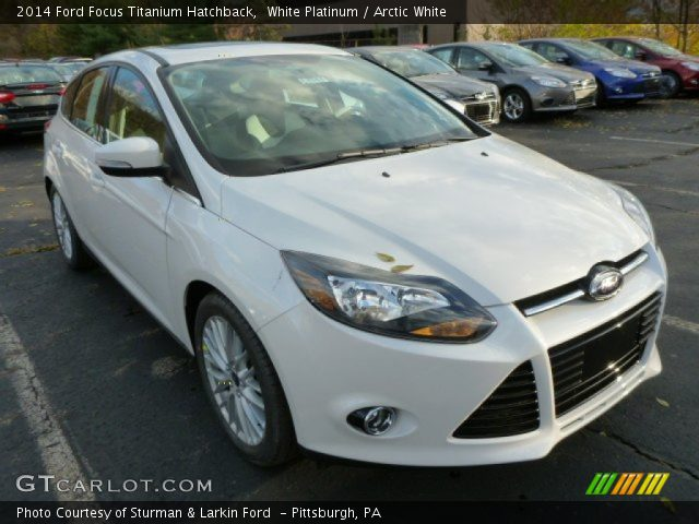 white platinum 2014 ford focus titanium hatchback arctic white interior. Black Bedroom Furniture Sets. Home Design Ideas