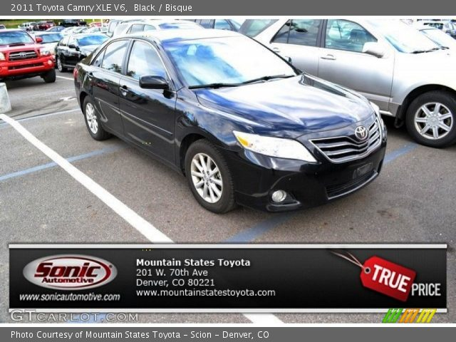 black 2011 toyota camry xle v6 bisque interior. Black Bedroom Furniture Sets. Home Design Ideas