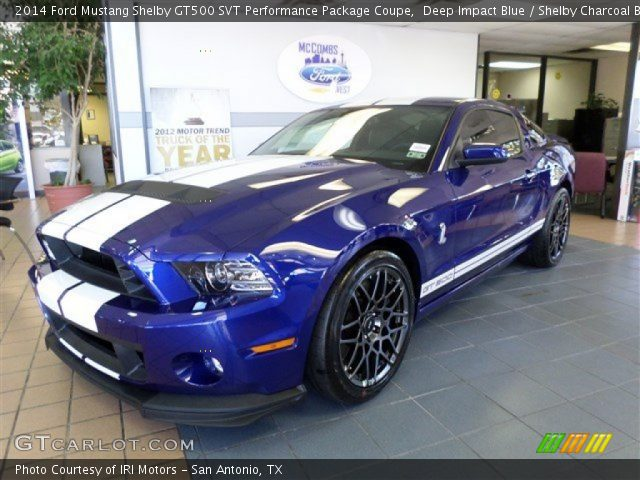 deep impact blue 2014 ford mustang shelby gt500 svt performance package coupe shelby. Black Bedroom Furniture Sets. Home Design Ideas