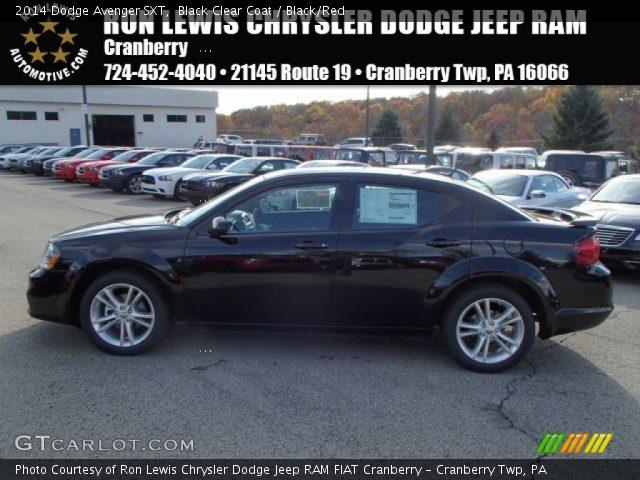 Black Clear Coat 2014 Dodge Avenger Sxt Black Red