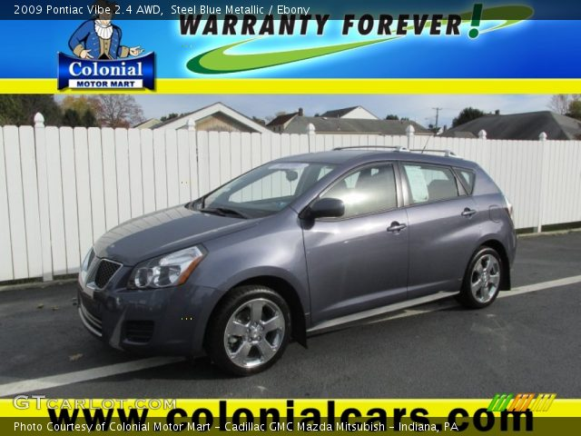 2009 Pontiac Vibe 2.4 AWD in Steel Blue Metallic