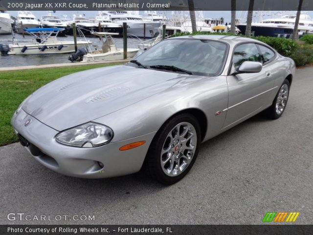 platinum metallic 2000 jaguar xk xkr coupe oatmeal interior vehicle archive. Black Bedroom Furniture Sets. Home Design Ideas
