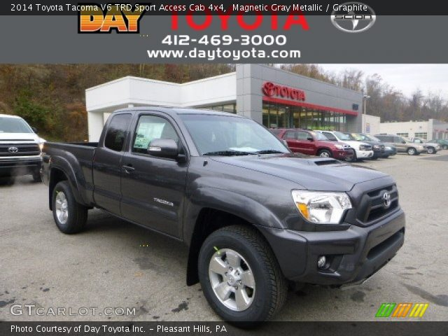 magnetic gray metallic 2014 toyota tacoma v6 trd sport access cab 4x4 graphite interior. Black Bedroom Furniture Sets. Home Design Ideas